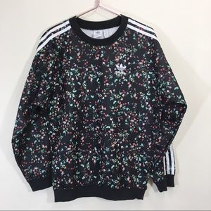 Adidas Floral Sweatshirt Pullover Hoodie Size XS
